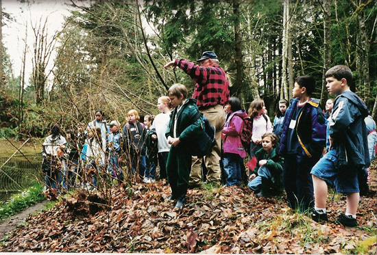 Connecting students and salmon in their watershed